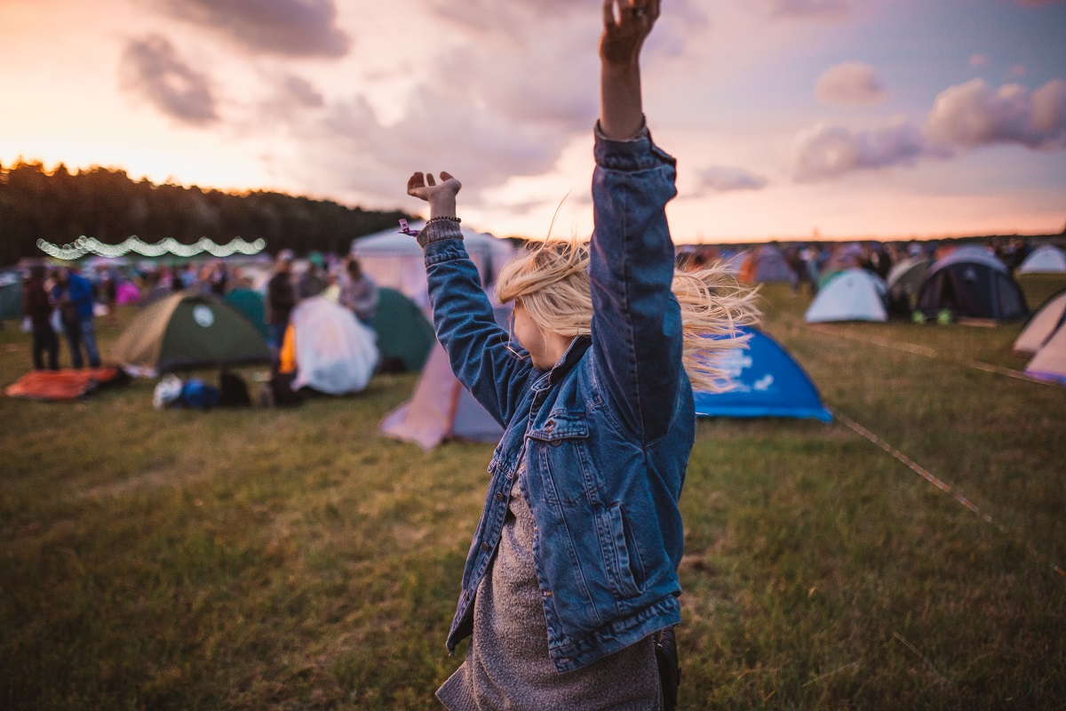 Woman in a festival