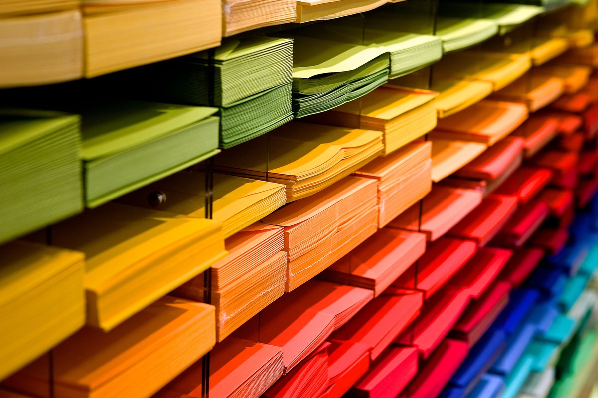 colored stationery