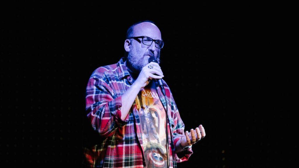 man doing spoken word poetry